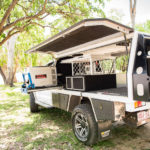 Custom made camping canopy, toyota hilux, storage drawers, slide out drawer, underbody toolboxes