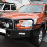 Holden Colorado dualcab, TJM Tradesman bar, sidesteps and siderails