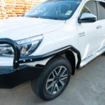 Siderails and steps, Toyota Hilux 2018, mag wheels