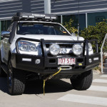 Holden Colorado Outback bar, spotlights, TJM winch, aerial