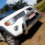 Mitsubishi Triton TJM low nudge bar