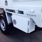 Outlawed heavy duty steel tray with underbody toolbox