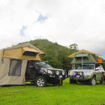 Rooftop tent, annex and awning, camping
