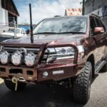 Toyota Landcruiser 200 series wagon, TJM T13 Outback bar, winch, xray vision spotlights