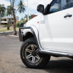 Side rails and steps, mag wheels, Toyota Hilux